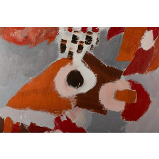 1971 Jacob Semiatin Abstract Oil on Canvas Painting Preview