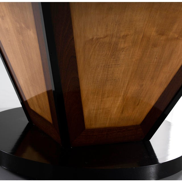 Large Deco Inspired Italian Marble Table With Custom Made Base For Sale - Image 10 of 13