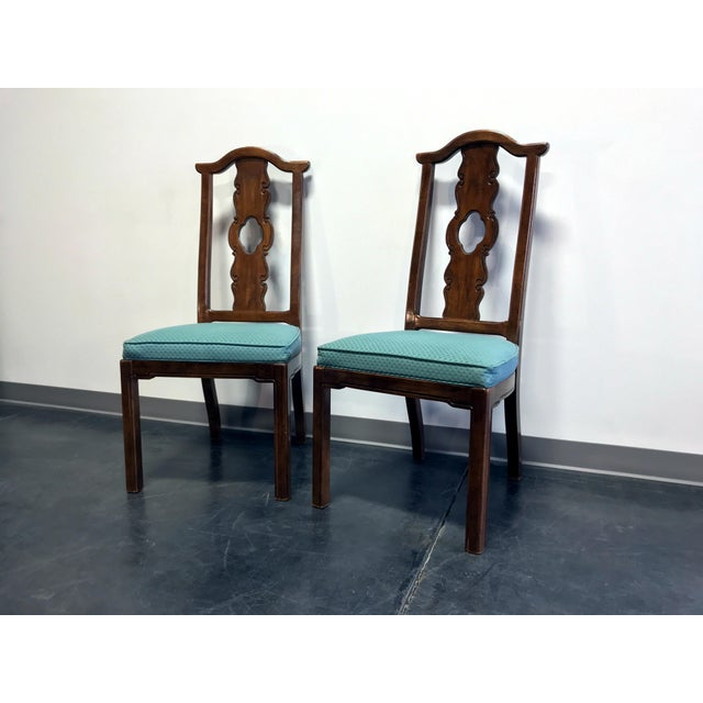 Asian THOMASVILLE Mystique Asian Chinoiserie Dining Side Chairs - Pair 1 For Sale - Image 3 of 13