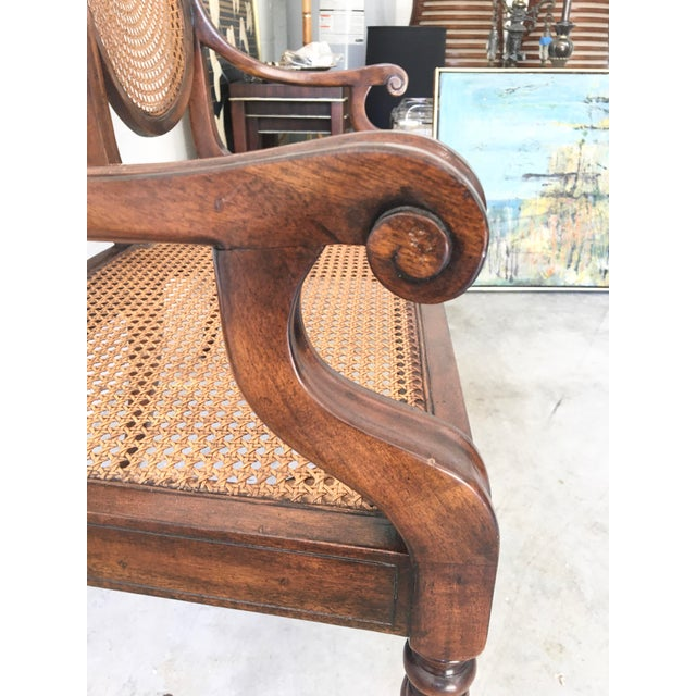 Theodore Alexander Theodore Alexander Acacia and Cane Bench For Sale - Image 4 of 13