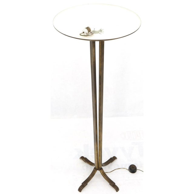 Cross Base 68 Tall Metal Dish Shade Floor Lamp For Sale - Image 11 of 13