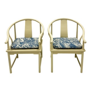 1970s Ming Style Arm Chairs by Baker Furniture-A Pair For Sale