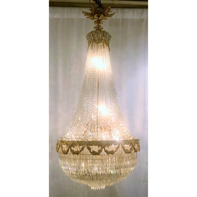 "Antique French 19th Century ""Belle Epoch"" Baccarat Crystal Chandelier."