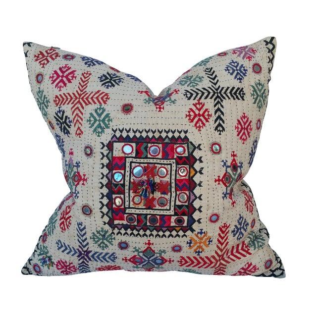 Vintage Banjara Fragment Pillow For Sale