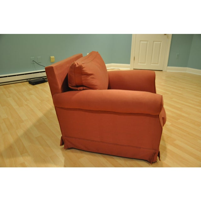 Brick Red Club Chairs - A Pair - Image 2 of 3