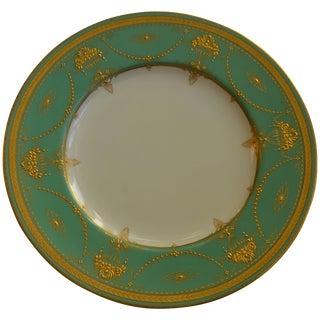 Royal Worcester Presentation Green Dinner Plates Set of Eleven For Sale
