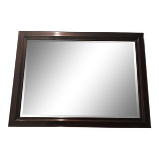 Stickley Traditional Mahogany Beveled Mirror For Sale