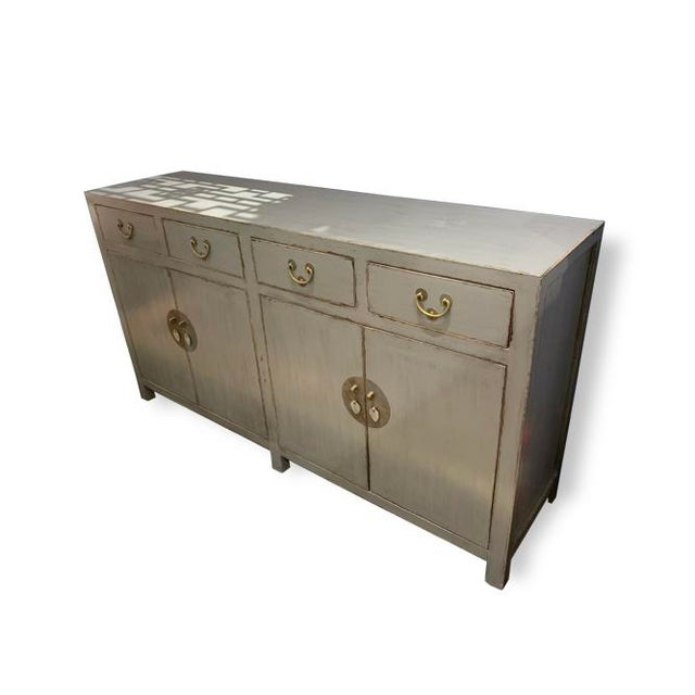 Chinese Ming Gray Buffet Table For Sale - Image 3 of 4