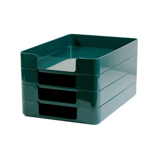 Radius One Green Paper Trays by William Sklaroff