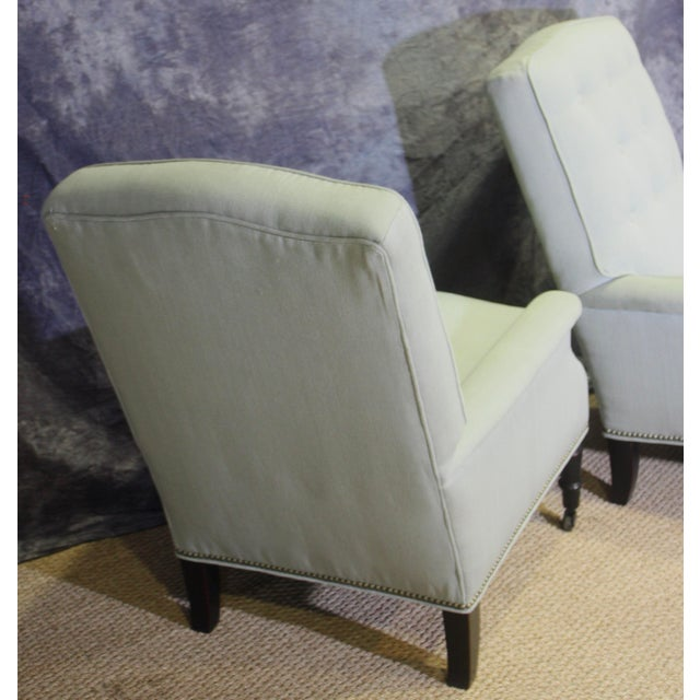 2010s Scalamandre Furniture Club Chairs- A Pair For Sale - Image 5 of 11