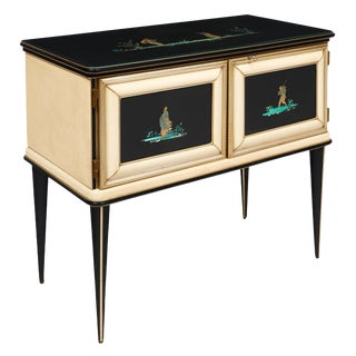 Vintage Umberto Mascagni Chinoiserie Sideboard For Sale