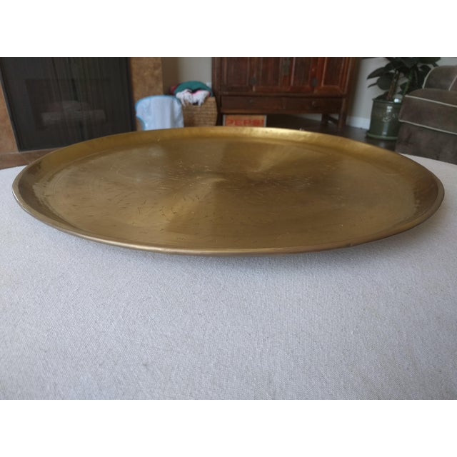 Pottery Barn Etched Brass Tray - Image 3 of 5