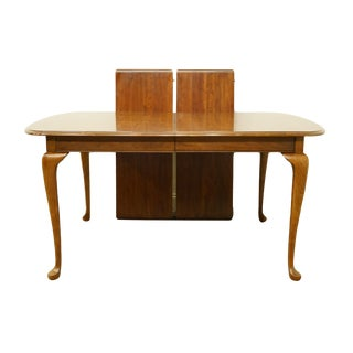 "20th Century Rustic Pennsylvania House Solid Walnut 90"" Dining Table For Sale"