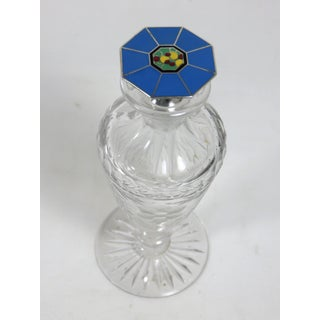 1920s Art Deco Cut Glass & Sterling Silver Perfume Bottle Preview