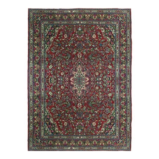 Antiqued Distressed Persian Carpet | 10'6 X 14'4 For Sale