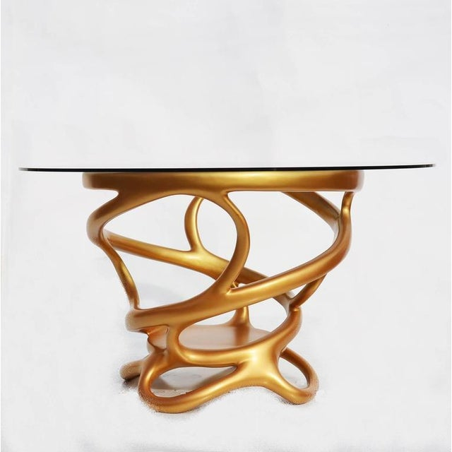 Freeform Gilded Entry or Occasional Table - Image 4 of 5