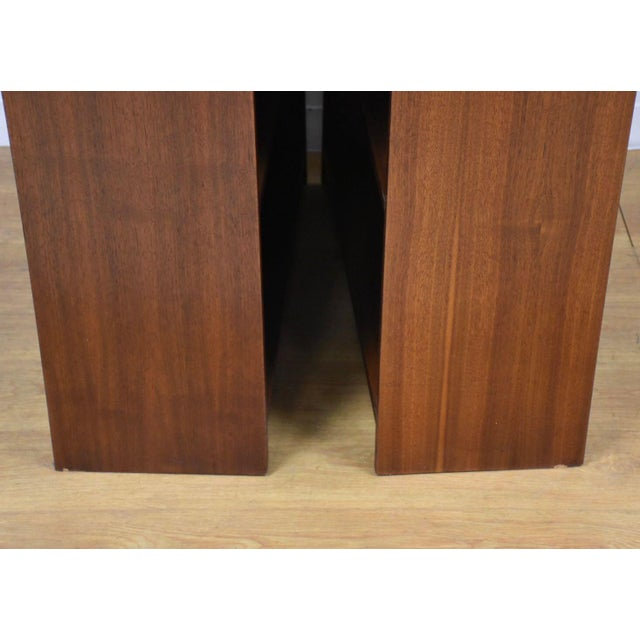1950s Large Walnut Bookcases- A Pair For Sale - Image 5 of 10