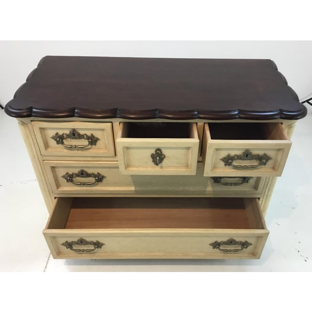 2010s French Country Style Cream Normandy Chest By: Hickory Chair For Sale - Image 5 of 7