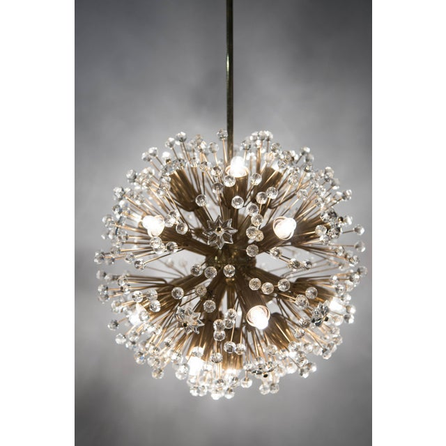 "Gold ""Snowflake"" Crystal Chandelier by Emil Stejnar For Sale - Image 8 of 11"