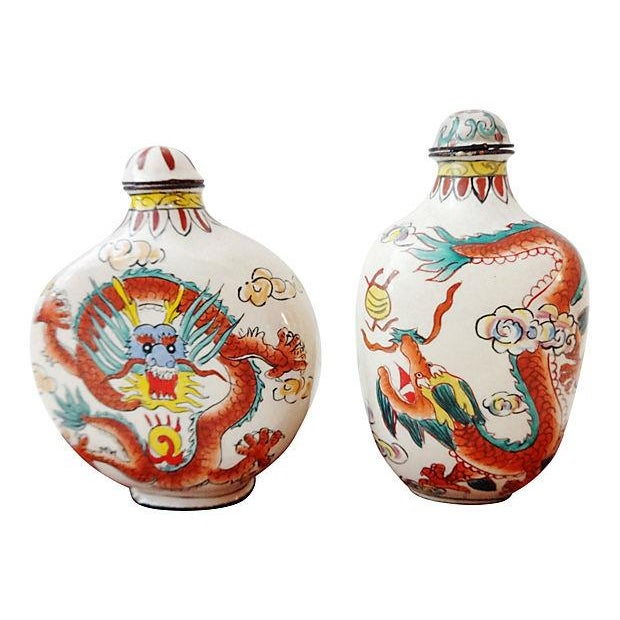 Chinese Dragon Snuff Bottles- A Pair - Image 7 of 7