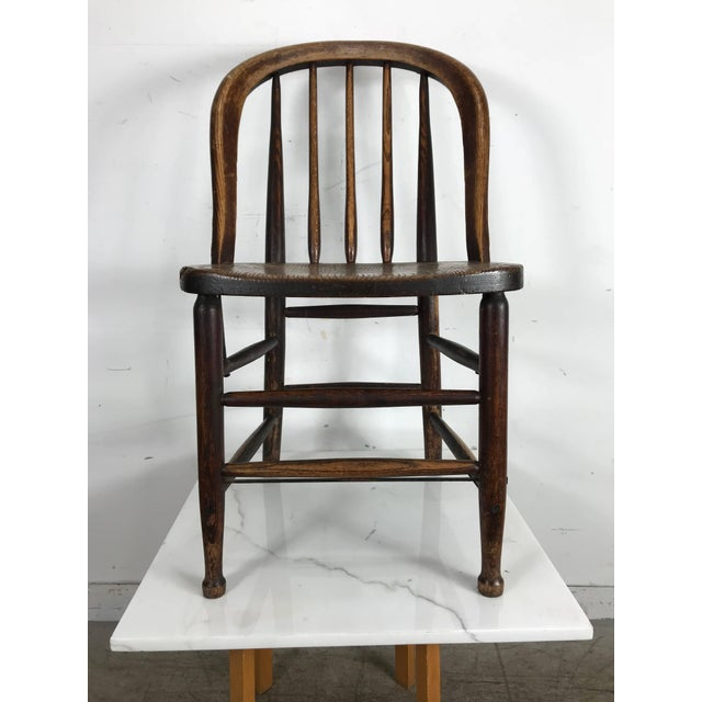 Early Oak Antique Industrial Side Chairs by Heywood Wakefield - A - Early Oak Antique Industrial Side Chairs By Heywood Wakefield - A