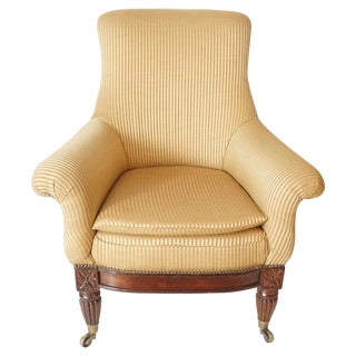 English Regency Upholstered Armchair of Large Size, Circa 1830 For Sale