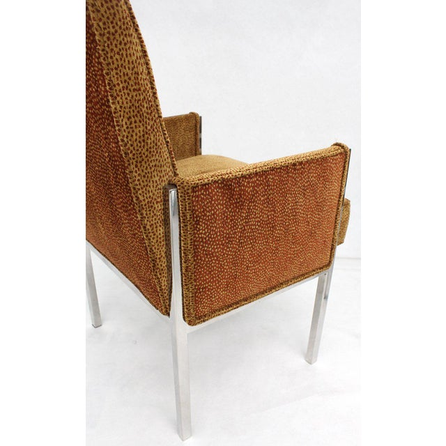 Vintage Mid Century Chrome Frame New Upholstery Dining Chairs- Set of 8 For Sale - Image 12 of 13