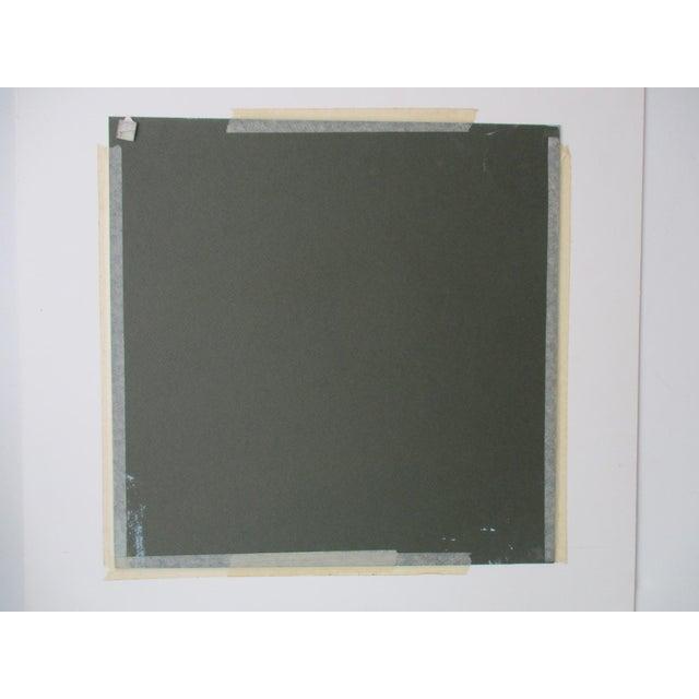 Abstract Geometric Acrylic Painting Hard Edge Style - Image 5 of 8