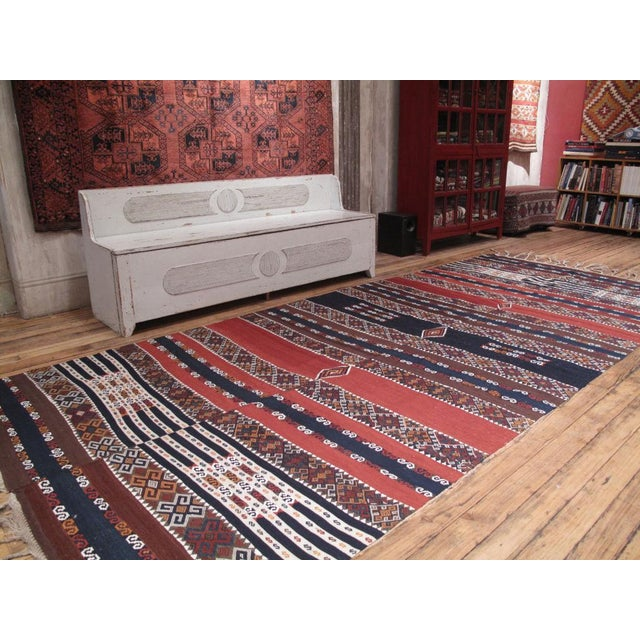 A magnificent antique Kilim from a small Kurdish group in Eastern Turkey. Superb colors, great design, impressive...