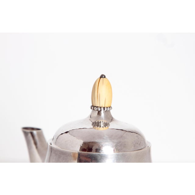Early 20th Century Sterling Silver Coffee Set by Georg Jensen For Sale - Image 5 of 11