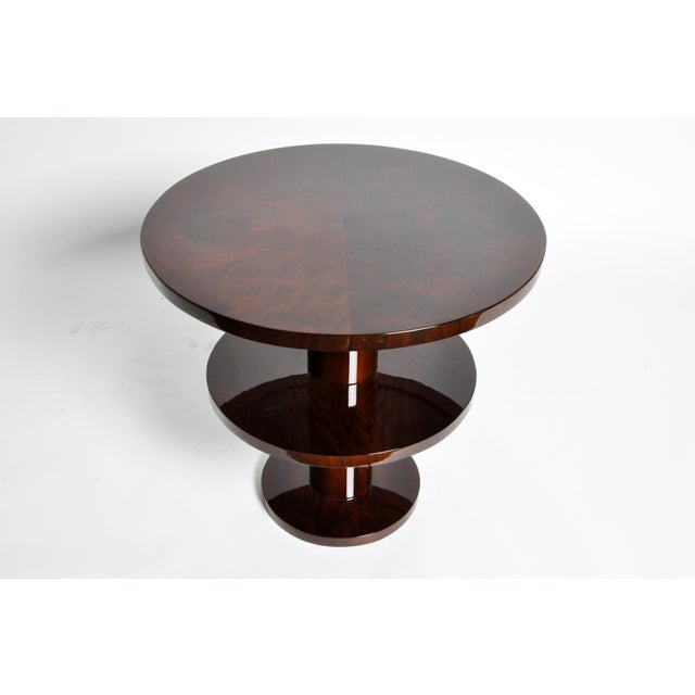 Art Deco Style Round Table For Sale - Image 4 of 11