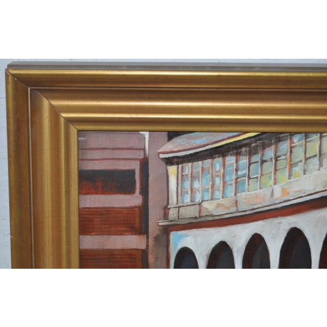 "Frank Ashley ""Facade at Santa Cruz"" Original Oil Painting - Image 7 of 11"