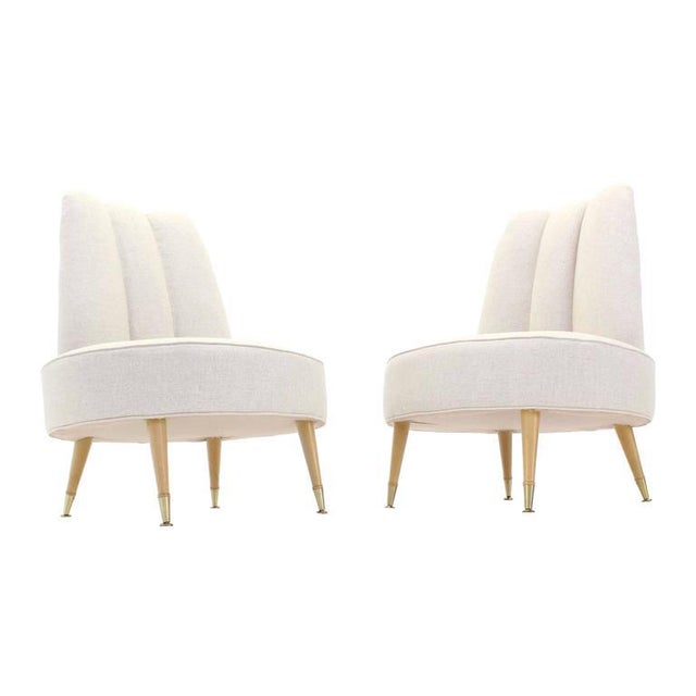 Very nice round seats mid century modern lounge slipper chairs