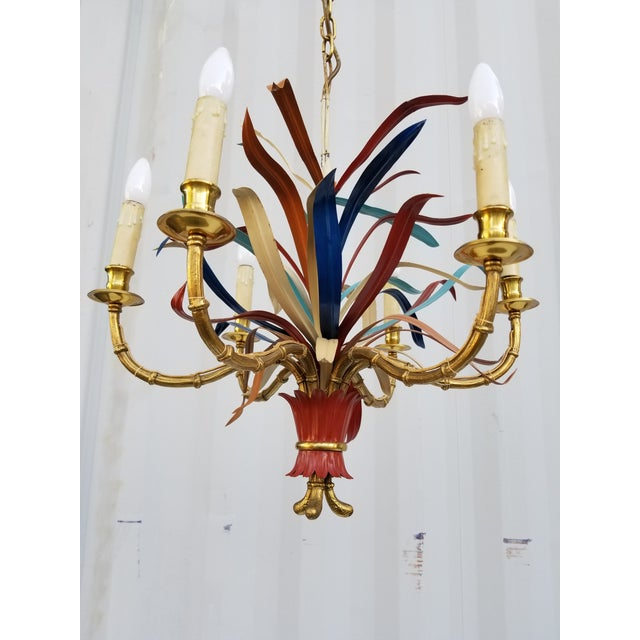 "Maison Bagues ""Feuillage"" 6 Lights Chandelier For Sale In Miami - Image 6 of 13"