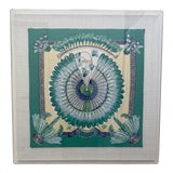 Image of Hermès Brazil Scarf in Acrylic Frame on Linen For Sale
