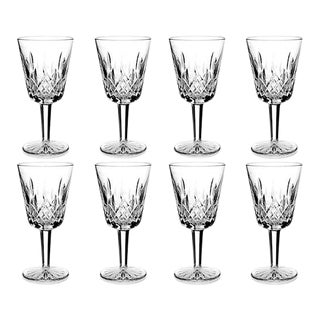 Waterford Lismore Crystal Water Goblets - Set of 8 For Sale