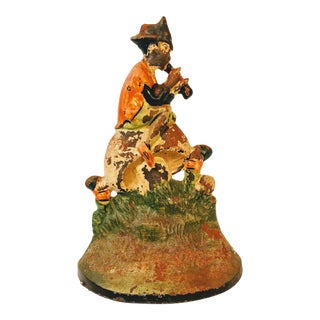 Vintage Cast Iron Pied Piper Doorstop For Sale
