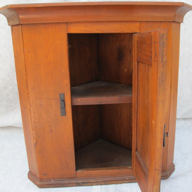 Cherry Wood Corner Cupboard - Image 10 of 11