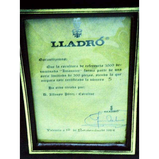 1982 Lladró Limited Edition Gres Porcelain Sculpture AMANECER by Alfonso Pérez For Sale - Image 10 of 13