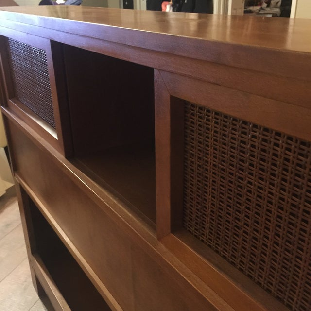 Wood Russell Wright for Conant Ball Full Size Bookcase Headboard For Sale - Image 7 of 8