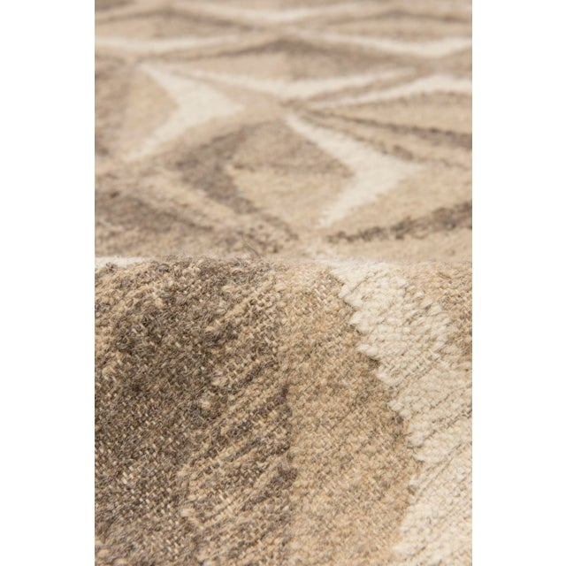 Contemporary Solo Rugs Grit and Ground Collection Contemporary Samoa Hand-Knotted Flatweave Area Rug, Brown, 8' X 10' For Sale - Image 3 of 5