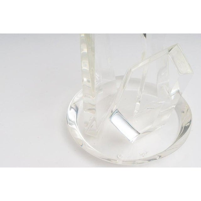 This stylish Van Teal lucite sculpture dates to the 1970s and was acquired from a Palm Beach estate. Note: See image for...