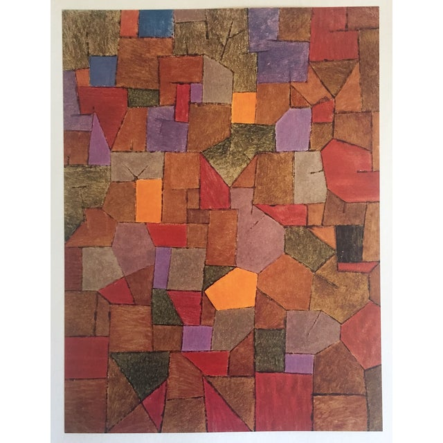 """Orange Paul Klee Vintage 1967 Authentic Abstract Lithograph Print """"Mountain Village Autumnal"""" 1943 For Sale - Image 8 of 8"""