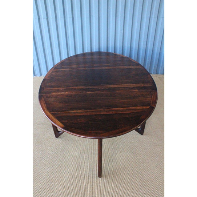 Mid Century Niels Koefoed Rosewood Gate Leg Dining Table, Denmark, 1960s For Sale - Image 9 of 12