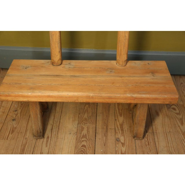 Chunky Oak Rustic Bench For Sale - Image 6 of 10