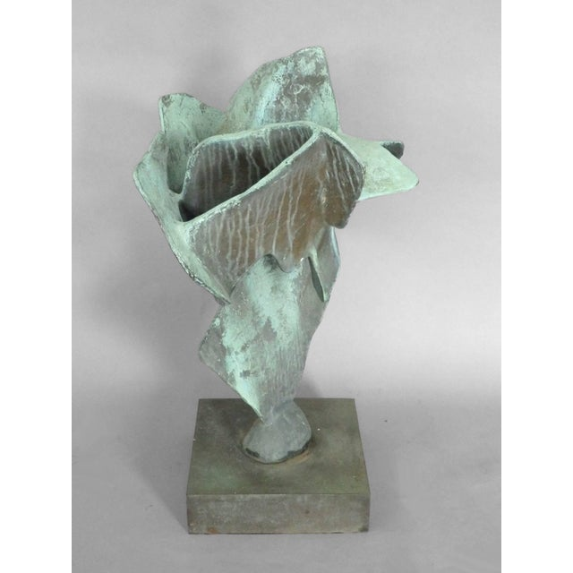 Abstract Organic Free-Form Abstract Bronze Sculpture For Sale - Image 3 of 4