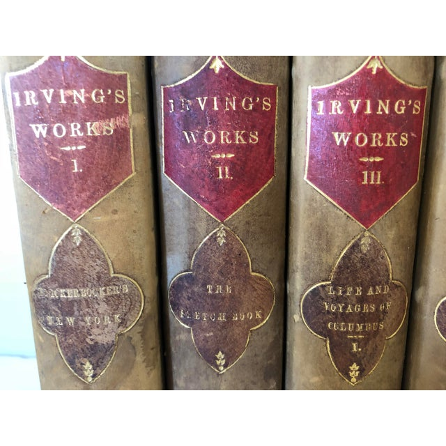 This 15 volume set of Washington Irvings works are from a New York Putnam publisher dated 1853. Beautiful fifteen...