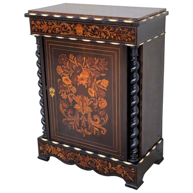 French Louis XVI Marquetry and Inlays Cabinet in the Manner of Daniel Deloose For Sale - Image 3 of 3