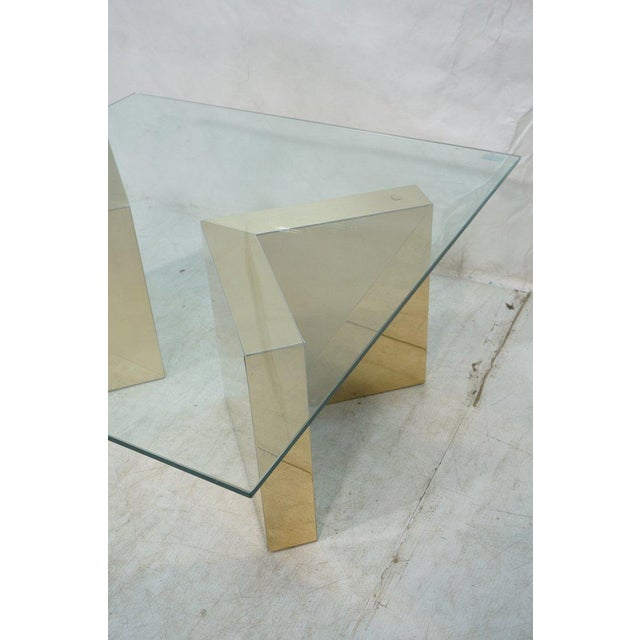 Square Gold V Base Cocktail or Coffee Table, Circa 1970 - Image 4 of 7