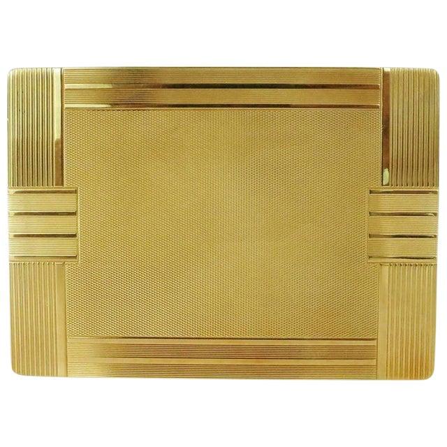 18-Karat Gold Art Deco Cigarette Case For Sale